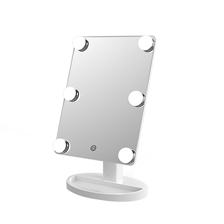 Lighted Hollywood Mirror - White
